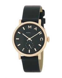 Marc Jacobs | Metallic Women's Baker Leather Strap Watch | Lyst