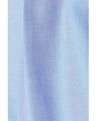 Peter Millar - Blue 'nanoluxe' Regular Fit Wrinkle Free Sport Shirt for Men - Lyst