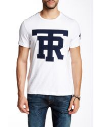 True Religion | White University Of Tr Graphic Tee for Men | Lyst
