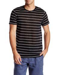Onia | Black Chad Stripe Linen T-shirt for Men | Lyst