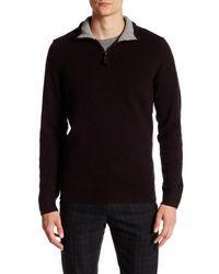 Ben Sherman | Black Half Zip Funnel Neck Pullover for Men | Lyst