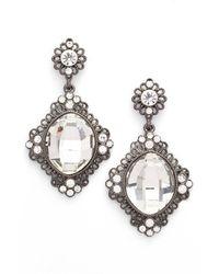 Tasha - Metallic 'vintage' Crystal Drop Earrings - Lyst
