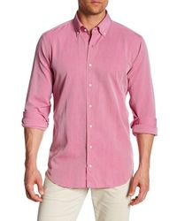 Peter Millar Pink Perfect Pinpoint Dress Shirt for men
