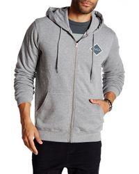 RVCA - Gray Matchbook Zip Hoodie for Men - Lyst
