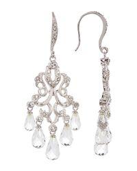 Nadri - White Crystal Chandelier Drop Earrings - Lyst