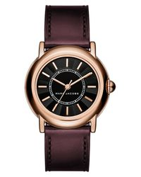 Marc Jacobs Multicolor 'courtney' Leather Strap Watch