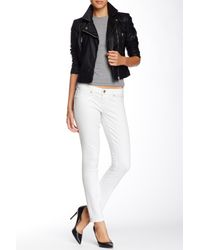 7 For All Mankind - White Jacquard Skinny Pant - Lyst