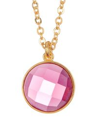 Melinda Maria | Metallic Hunter Pink Tourmaline Pendant Necklace | Lyst