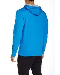 New Balance   Blue Essentials Logo Graphic Hoodie for Men   Lyst