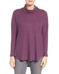 Bobeau | Purple Cowl Neck Sweater | Lyst