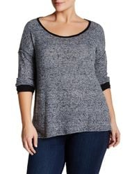 Everleigh | Gray Spacedye Colorblocked Sweater (plus Size) | Lyst