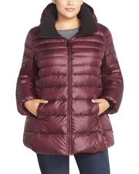 Marc New York - Purple Eva Sweater Weight Down Jacket (plus Size) - Lyst