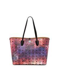 MCM - Multicolor Medium Leather Galaxy Shopper  - Lyst
