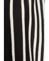 NYDJ - Black Stripe Cascade Cardigan - Lyst