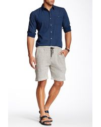 Micros - Natural Ghost Knit Jogger Short for Men - Lyst
