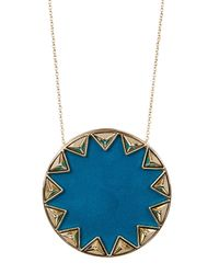 House of Harlow 1960 | Blue Sunburst Pendant Necklace | Lyst