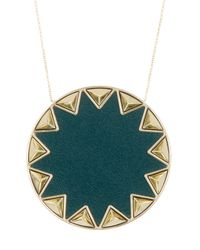 House of Harlow 1960 | Green Sunburst Pyramid Pendant Necklace | Lyst