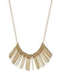 Sparkling Sage - Metallic Dainty Stacked Crescent Pendant Necklace - Lyst
