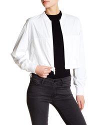 DKNY | Black Zip Cropped Jacket | Lyst