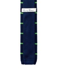 Burma Bibas - Blue Bar Stripe Textured Knit Tie for Men - Lyst