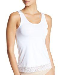 Felina | White Lace Hem Cami | Lyst
