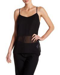 Laundry by Shelli Segal | Black V-neck Sleeveless Stripe Woven Cami | Lyst