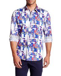 Robert Graham Blue Interstates Woven Regular Fit Shirt for men