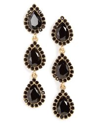 Loren Hope | Black Natalie Drop Earrings | Lyst