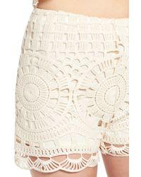 Tinsel Natural Crochet Shorts