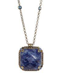 Sorrelli - Blue Kaleidoscope Crystal Pendant Necklace - Lyst