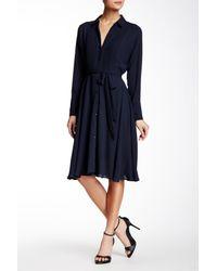 Nanette Nanette Lepore - Blue Pintuck Pleat Shirt Dress - Lyst