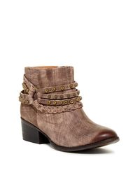 Naughty Monkey | Brown Annie Studded Short Boot | Lyst