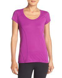 Zella   Purple Sunny Run Short Sleeve Tee   Lyst