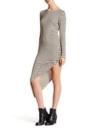 NYTT | Black Striped Asymmetrical Hem Dress | Lyst