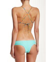 Volcom - Multicolor Faded Flowers Triangle Bikini Top - Lyst
