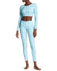 Volcom | Blue Printed Surf Legging | Lyst