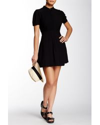Free People - Black Dream Chaser Mini Shirt Dress - Lyst