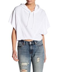 Free People | White Lost & Found Crop Tee | Lyst