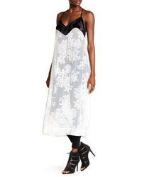 Free People | White Love All Day Contrast Slip Dress | Lyst