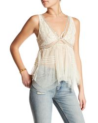 Free People | White On The Town Tank | Lyst