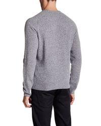 Original Penguin - Gray Lambswool Crew Neck Sweater for Men - Lyst