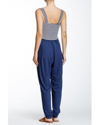 Nadia Tarr - Blue Narrow Leg Bustier Jumpsuit - Lyst