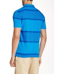 Original Penguin - Blue Exploded Stripe Fashion Mearl Slim Fit Polo for Men - Lyst