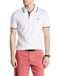 Original Penguin | White Short Sleeve Polo With Contrast for Men | Lyst