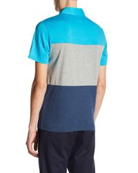 Original Penguin - Blue Short Sleeve Heathered Colorblock Shirt for Men - Lyst