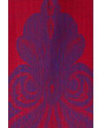 Blue Pacific - Red Cashmere Blend Fleur De Lis Scarf - Lyst