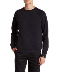 Jack Spade | Black Foxton Quilted Sweatshirt for Men | Lyst