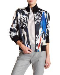 DKNY | Black Mock Neck Bomber Jacket | Lyst