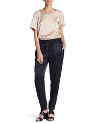 DKNY | Blue Stripe Drawstring Pull On Pant | Lyst