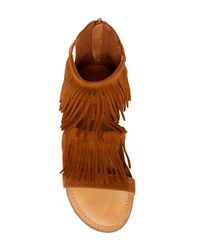 Madden Girl - Brown Paacey Fringe Sandal - Lyst
